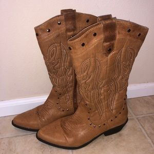 JustFab Chesney Western Boot